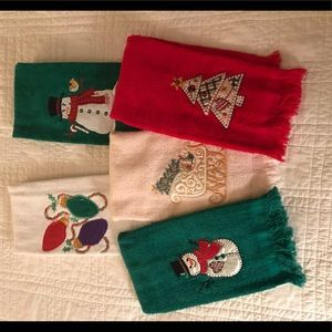 Other - Set of FIVE Bathroom Christmas Hand Towels